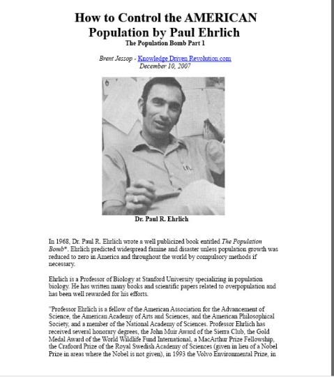 paul ehrlich 1968 population bomb